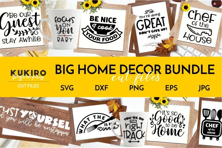 BIG HOME DECOR BUNDLE - Home, Office and funny Kitchen signs