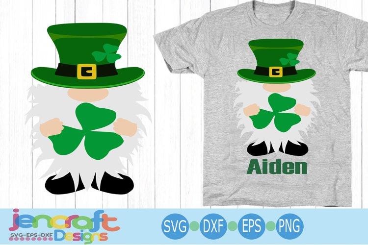 Irish St Patricks day Gnomes svg 4 leaf clover Lucky Charm