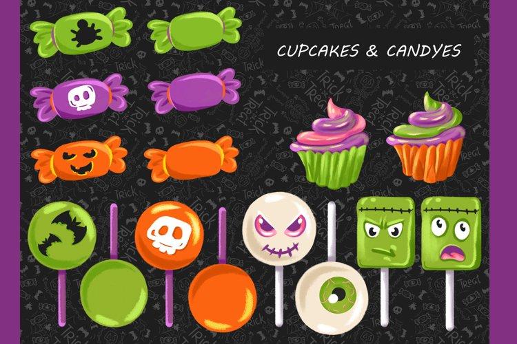 Halloween CLIPART, Fall clipart, Pumpkin clipart, PNG files example 3