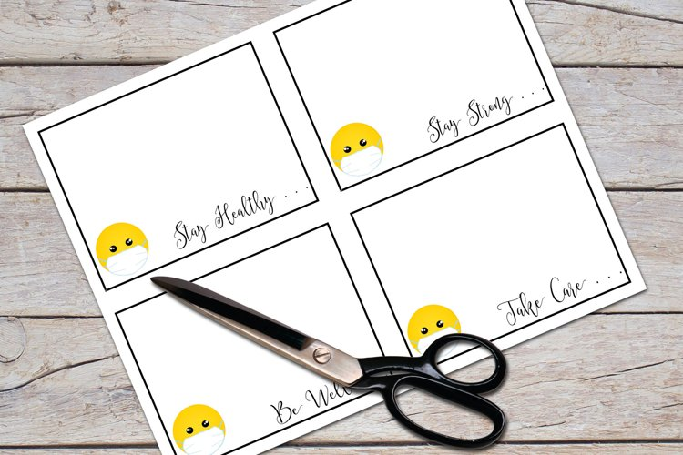Flat Note Card, Post Card, Masked Smiley