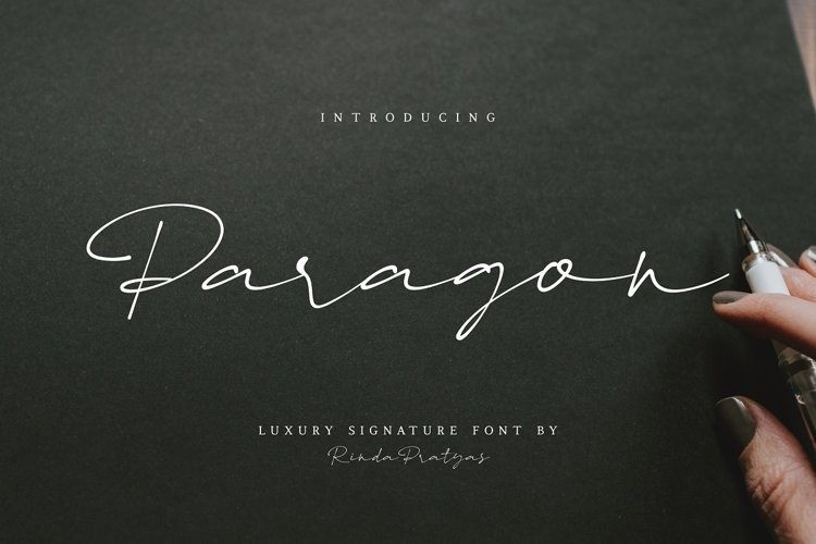 Paragon Luxury Signature Font example image 1