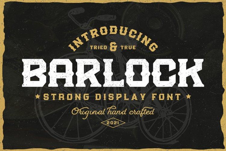 Barlock - Strong Display Font example image 1