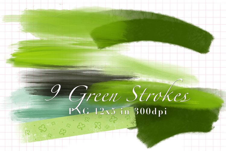 9 Green Strokes for St. Patricks example image 1