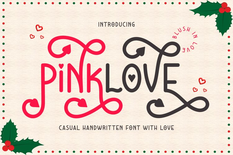 Pinklove - Heart Accent Handwritten Script