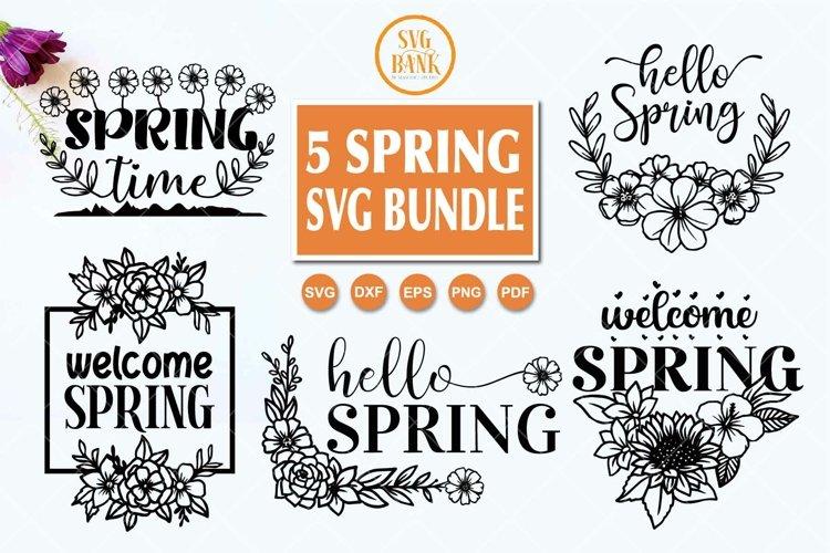 Spring SVG, 5 Spring SVG Bundle