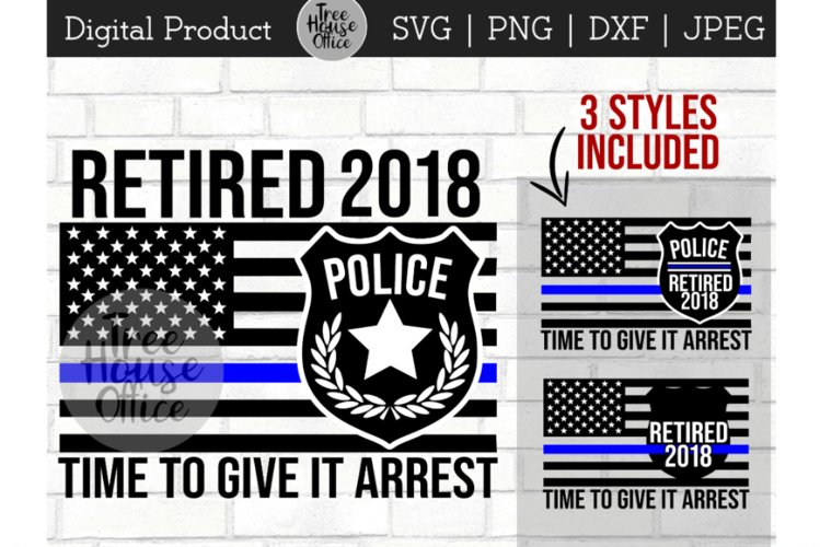 Police Officer Retirement, Cop Retiree, Law Retired SVG PNG example image 1