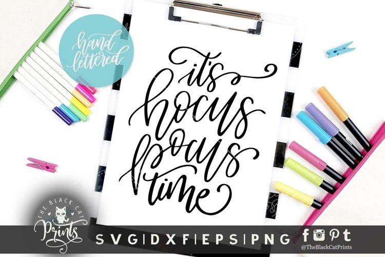 Hocus pocus time SVG DXF EPS PNG, Hand lettered cut file