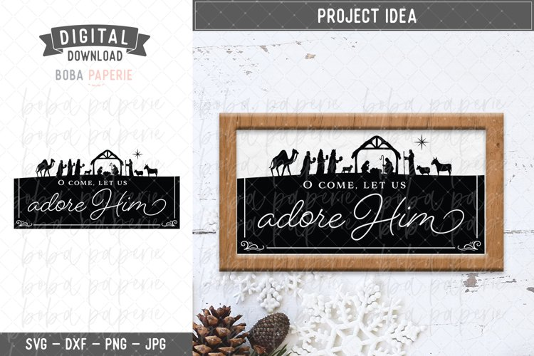 O Come Let Us Adore Him svg example image 1