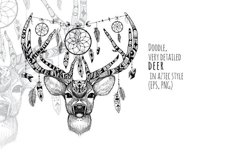 Textured deer in aztec style example image 1