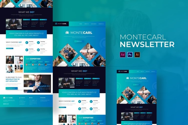 Montecarl | Email Newsletter Template example image 1