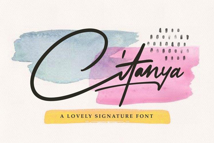 Citanya - Script Font example image 1
