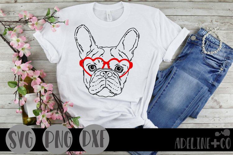 Dog with heart glasses, SVG, Valentines Day