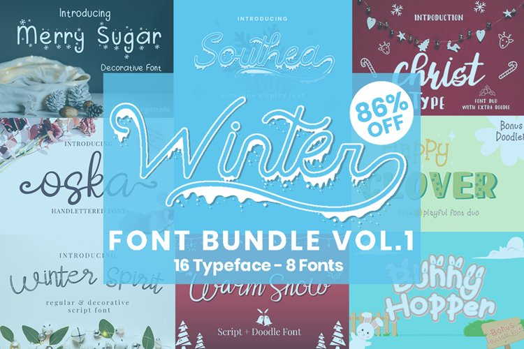 Winter Font Bundle Vol.1