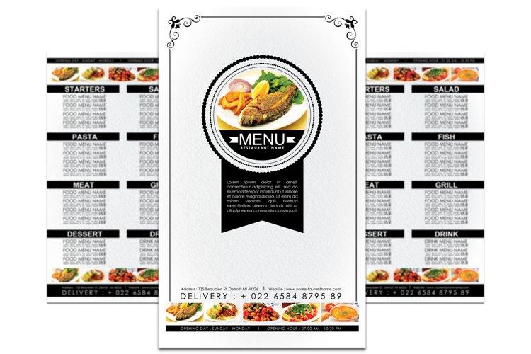 Minimalist Food Menu Template example image 1