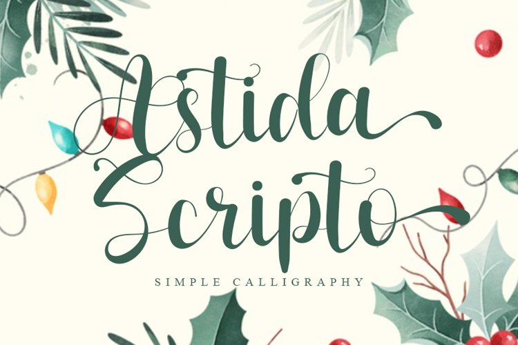 Astida Scripto - Simple Calligraphy Font example image 1