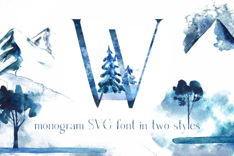 Winter Fairytale-SVG monogram and regular font in two styles example image 1