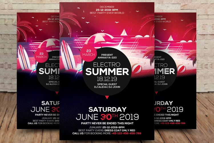 Summer Party Nightclub Poster example image 1