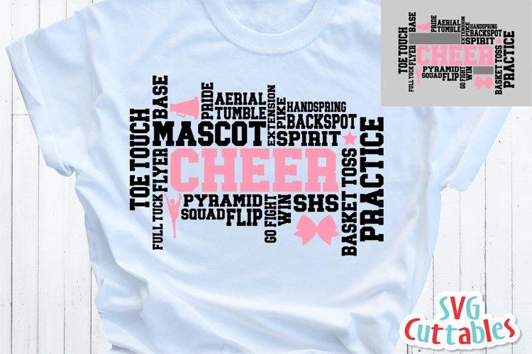 Cheer SVG | Cheer Word Art SVG | Shirt Design