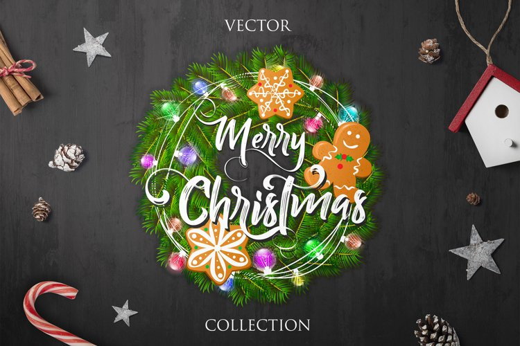 Merry Christmas - Vector Collection example image 1