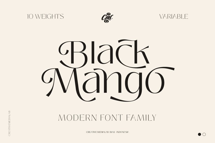 Black Mango Font - Modern Pretty Family example image 1
