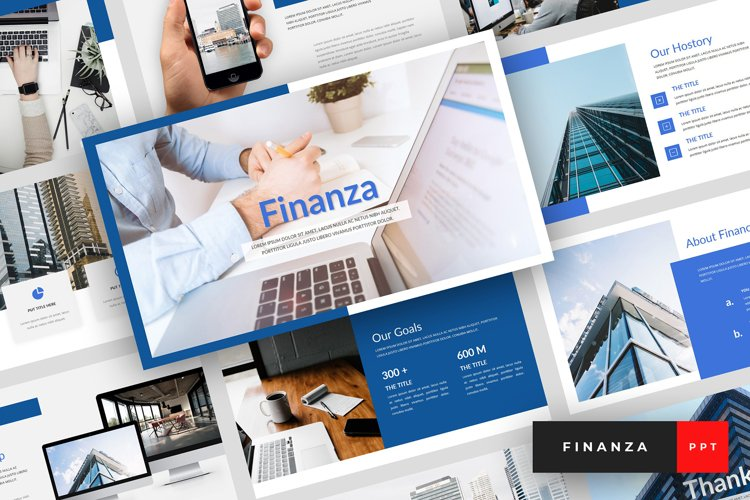 Finanza - Finance PowerPoint Template example image 1