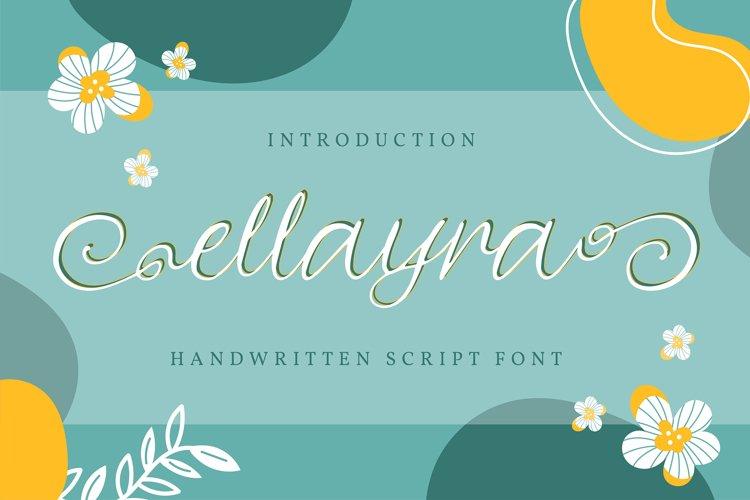 Ellayra | Handwritten Script Font example image 1