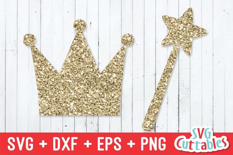 Princess Crown and Wand SVG