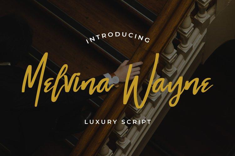 Melvina Wayne - Luxury Script Font example image 1