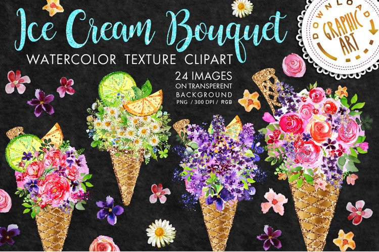 Ice cream Bouquet Clip Art