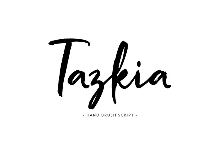 Tazkia - Handwritten Brush Font example image 1