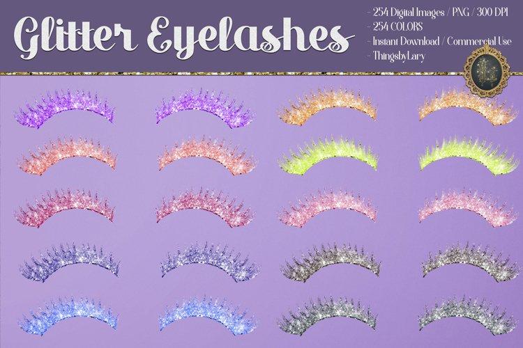 254 Glitter Eyelashes Set Clip arts Wedding Valentine Date