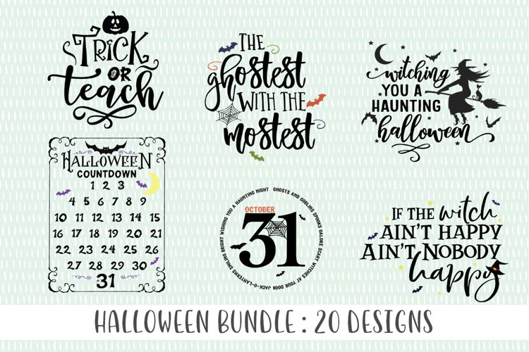 Halloween SVG Bundle example image 1