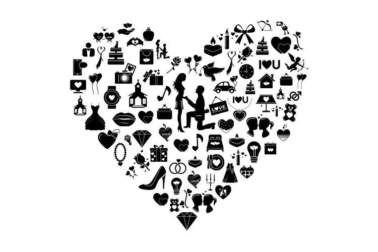 Wedding & Love Vector Icons