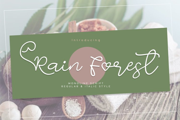 Rain Forest Script example image 1