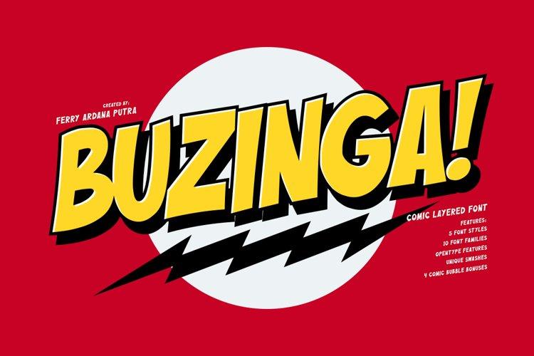 Buzinga! | Comic Layered Font