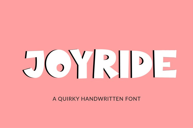 Joyride, a quirky handwritten font example image 1