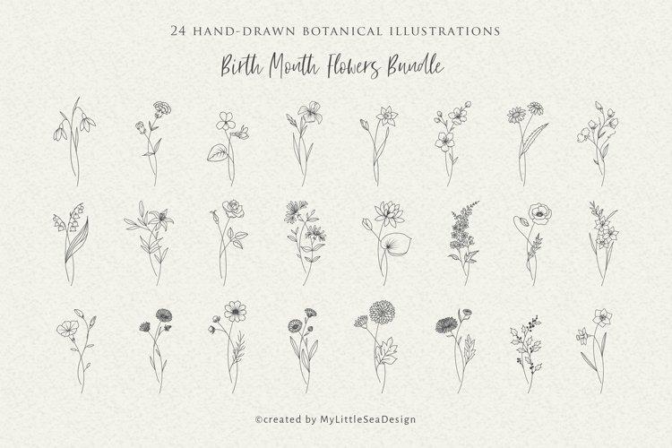 Birth Month Flowers SVG Bundle