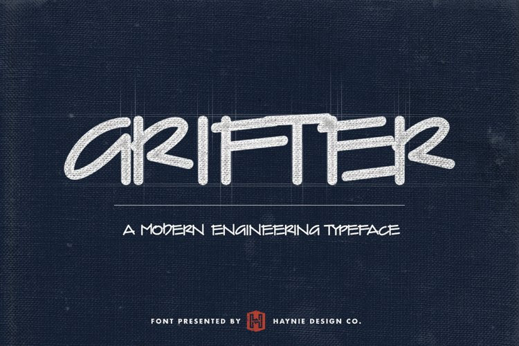 Grifter Architect Blueprint Handwriting Font example image 1
