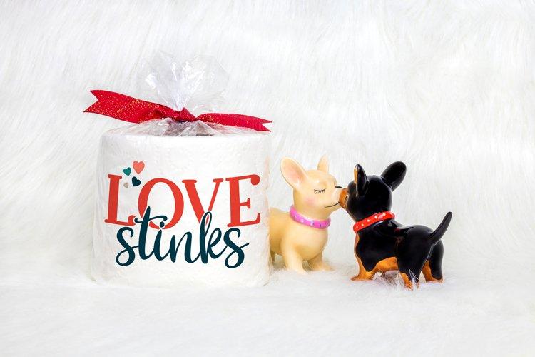 Love Stinks- An Anti - Valentine's Day SVG example 1