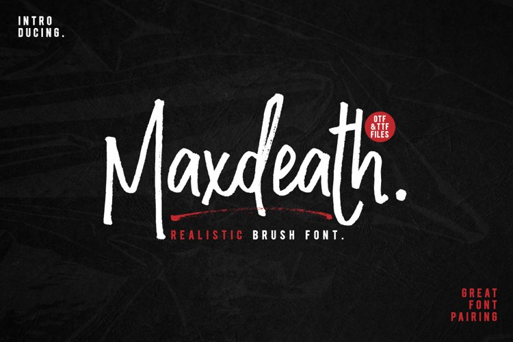 Maxdeath Brush Font