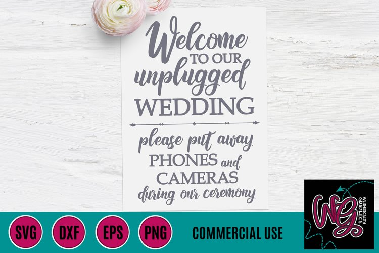 Unplugged Wedding SVG DXF PNG EPS Comm