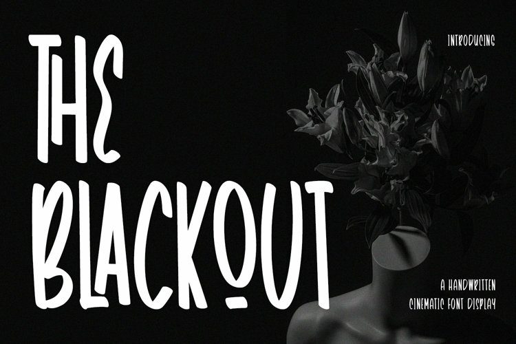 Web Font TheBlackout - Cinematic Display Font example image 1