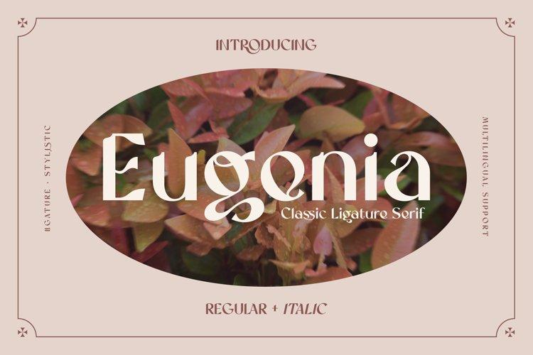 Eugenia - Ligature Serif Font example image 1