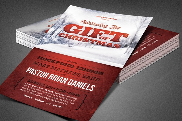 Gift of Christmas Church Flyer