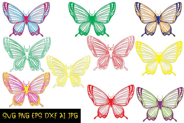 Butterfly SVG file, Colorful SVG prints, Butterlies Download example image 1