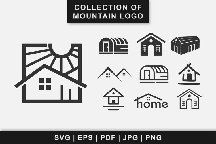 Collection of house building or real estate logo design