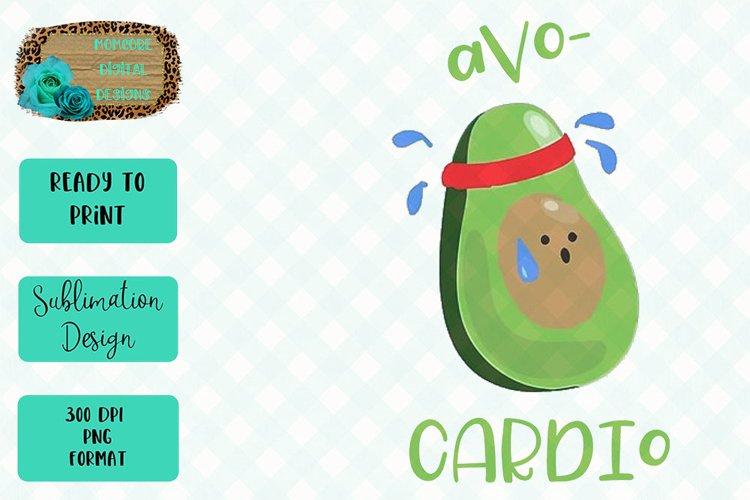 Avo-Cardio Sublimation Design example image 1