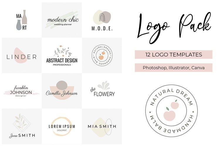 Logo Pack V.1 | 12 premade logo templates