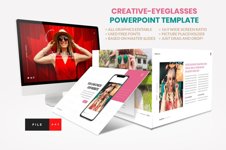 Fashion - Eyeglasses PowerPoint Template