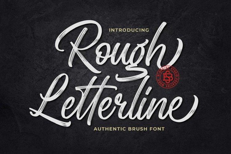 Rough Letterline Authentic Brush Font example image 1